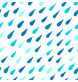 rain seamless pattern for your design vector image
