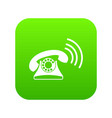 retro phone icon digital green vector image vector image