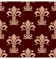 Seamless pattern of fleur-de-lis flowers vector image vector image