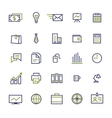Set of business icons for internet marketing and vector image vector image