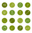 set of hand-painted vegetables vector image vector image