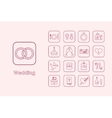 Set of wedding simple icons vector image vector image