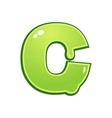 slimy font type letter c vector image vector image