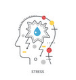 stress concept vector image