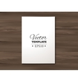 template blank paper sheet on a wooden vector image vector image