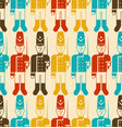 toy soldier pattern seamless guardsman plaything vector image vector image
