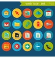 Trendy detailed web icon set vector image vector image