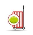 trolley shop juicy lemon fruit vector image vector image