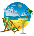 tropical journey and resort vector image vector image