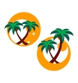 Two icons with palm trees vector | Price: 1 Credit (USD $1)