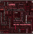 valentines day word seamless pattern vector image