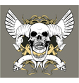 Vintage emblem with animal skull vector | Price: 1 Credit (USD $1)