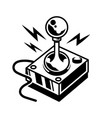vintage joystick for play retro video game vector image