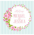 wedding invitation with blossom cherry vector image vector image