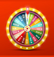 wheel of fortune with jackpot win vector image vector image