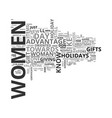 Women own the holidays text word cloud concept