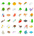 zoo icons set isometric style vector image vector image