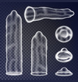 condoms set sexual protection concept vector image