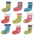 Christmas winter colorful socks vector image