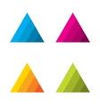 Design triangle logo element vector image
