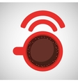 internet coffee wifi connection icon vector image