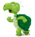 Turtle walk vector image