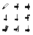 repair house hand tool icon set simple style vector image