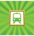 Train picture icon vector image