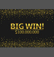 big win vector image vector image