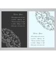 Black and white flyers with ornate pattern vector image