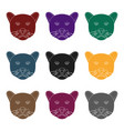 black panther icon in black style isolated on vector image vector image