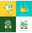 Business analysis concept 4 flat icons vector image vector image