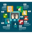 Business Hands Infographics vector image vector image
