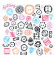 buttons hand drawn isolated set handmade vector image vector image
