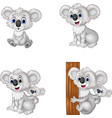 cartoon koala collection set vector image vector image