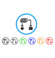 cashflow rounded icon vector image vector image