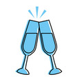 champagne glasses icon vector image vector image