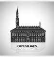 city hall square in copenhagen denmark vector image