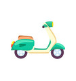 city motorbike for courier icon vector image