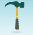 Claw hammer Repair equipment Rubber handle vector image vector image