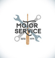 color motor service sign template vector image vector image