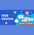 colorful of web design as a marketing vector image