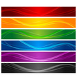Colorful wavy line banners vector | Price: 1 Credit (USD $1)