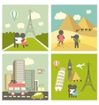 couple in love traveling vector image