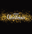 dark christams design with gold glitter on the vector image vector image