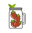 Detox icon Organic food design graphic vector image vector image