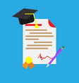 diploma cerificate celebration study ceremony vector image