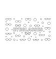 eyeglasses horizontal outline vector image