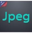 File JPG icon symbol 3D style Trendy modern design vector image vector image