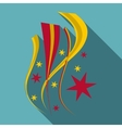 Firework icon flat style vector image vector image